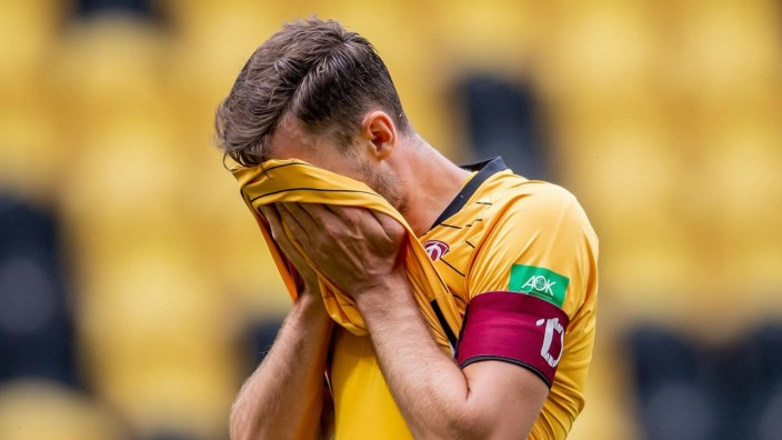 28. Juni 2020: Dresden, Fussball 2. Bundesliga, 34. Spieltag: SG Dynamo Dresden - VfL Osnabrueck: Dresdens Florian Ball