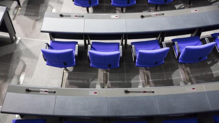 Sitze im Bundestag in Berlin, 2019