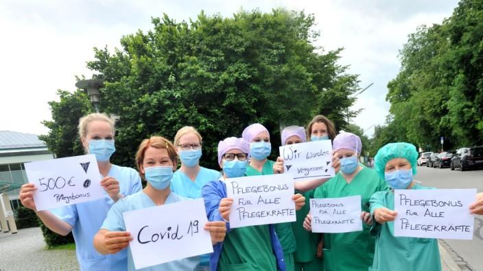 Starnberg: Klinikum Pfleger demonstrieren