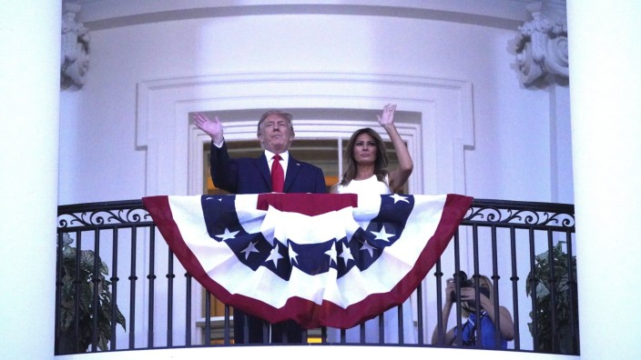 July 4, 2020, Washington, District of Columbia, USA: United States President Donald J. Trump and First lady Melania Trum