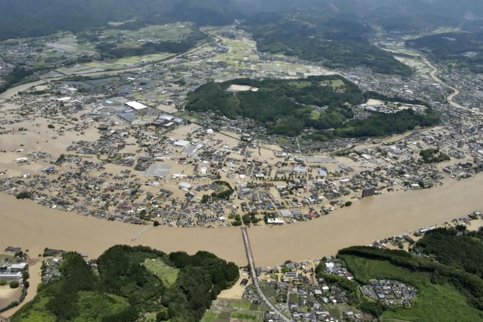 Unwetter in Japan
