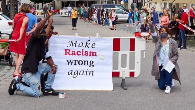 Demo gegen Alltagsrassismus EBE - Black Lives Matter
