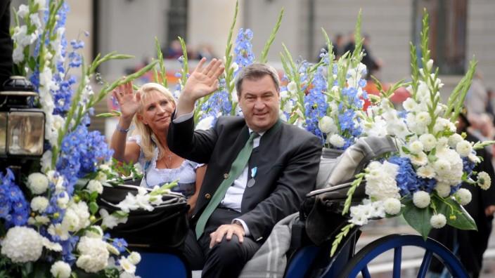 Markus Söder beim Trachten- und Schützenumzug zum Münchner Oktoberfest, 2018