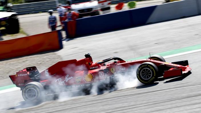 Formel 1: Sebastian Vettel im Ferrari beim Großen Preis in Spielberg 2020