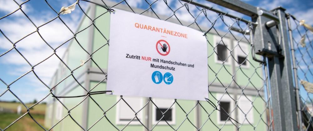 Corona-Tests in Flüchtlingsheim