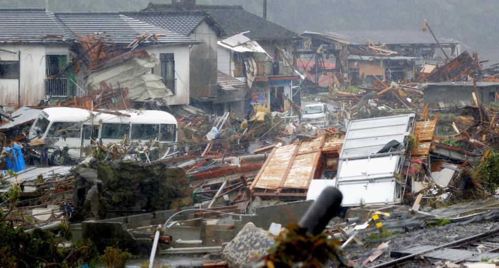 Nach Unwetter in Japan