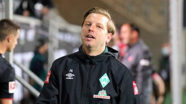 1.FC Heidenheim vs SV Werder Bremen - Relegation 02 - 06.07.2020 Florian Kohfeldt (SV Werder Bremen) Deutschland, Heiden; Florian Kohfeldt