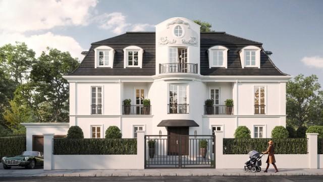 Villa in München. Entwurf: Josef Peter Meier-Scupin; Rendering: Immovision