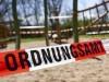 Corona-Pandemie: Durch das Ordnungsamt geschlossener Kinderspielplatz