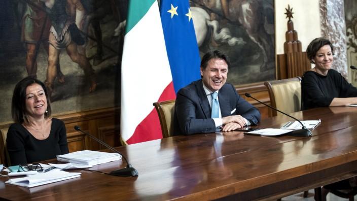 Pressekonferenz von Ministerpräsident Conte