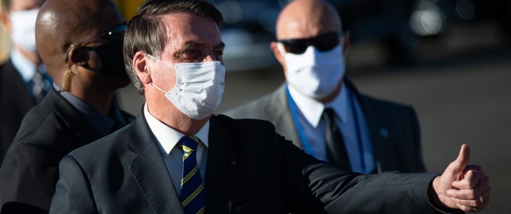 FILE: President Of Brazil Jair Bolsonaro Tests Positive For Coronavirus Bolsonaro Attends the Flag Ceremony at Palacio da Alvorada Amidst the Coronavirus (COVID - 19) Pandemic