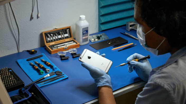 Reparatur eines Apple iPhones