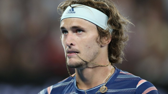Alexander Zverev, GER, during semifinals of 2020 Australian Open in Melbourne, 31/01/2020; - *** Alexander Zverev, CEF,