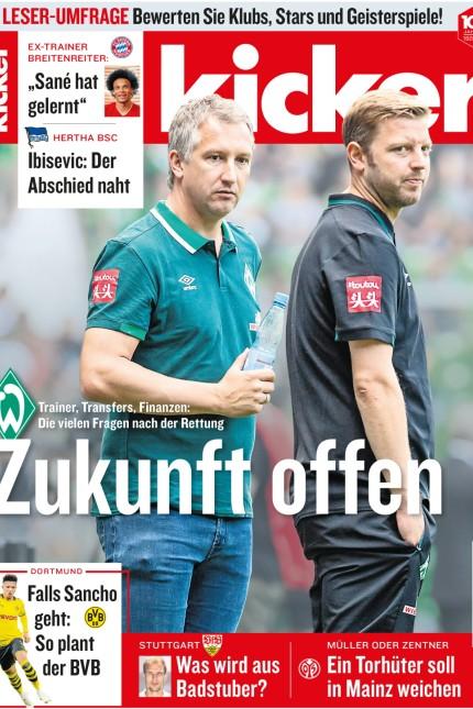 """kicker-Cover, Pressebilder nur frei zur Verwendung Print und online in Artikel """"100 Jahre kicker"""" in der SZ vom 11.07.2020"""