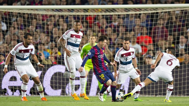 Barcelona 06 05 2015 Camp Nou Lionel Messi Barca Medhi Benatia FCB Jerome Boateng FCB Jua; Bayern Barcelona