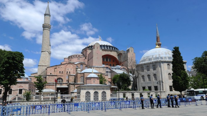 Turkey s President Recep Tayyip Erdogan announced the decision after a court annulled the site s museum status. Built 1