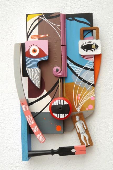 Martin Gerstenberger, Allegory of greed, 2018, Acryl auf Holzassemblage