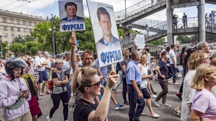 Demonstrationen Chabarowsk Russland