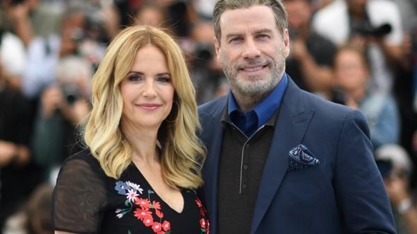 Die Schauspieler Kelly Preston und John Travolta