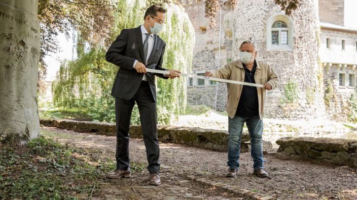 Dreharbeiten 'Tatort' aus Münster in Corona-Zeiten