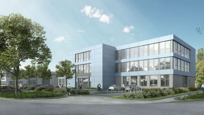 Geplanter Neubau von Innolas Solutions  in der Kraillinger KIM