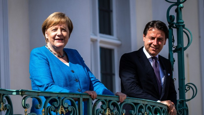 Italian Prime Minister Conte Meets With Angela Merkel
