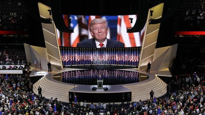 Donald Trump auf dem Parteitag 2016 in Cleveland
