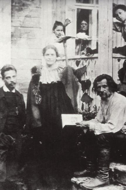 RILKE R.M. Rainer Maria RILKE (1875-1926), et Lou ANDREAS-SALOME (1861-1937) chez le poete paysan DROZIN ou Spiridon Dim