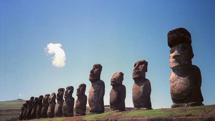 Internet-Kampagne 'Neue Sieben Weltwunder' - Statuen auf den Osterinseln