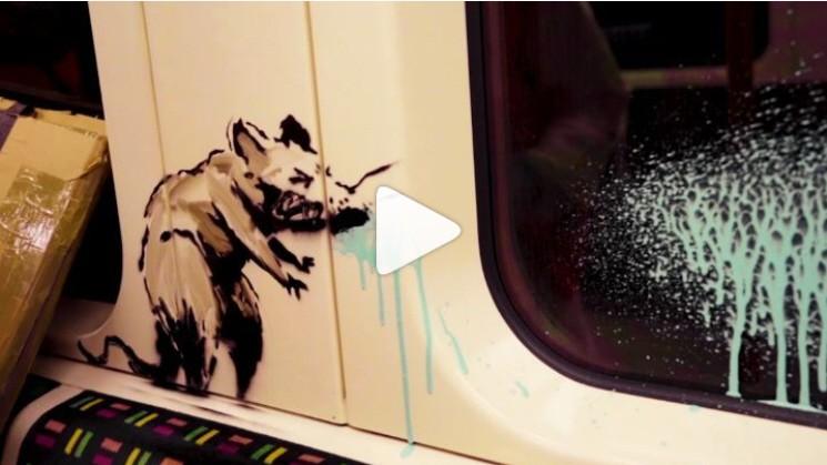 U-Bahn in London: Banksy wirbt für Masken