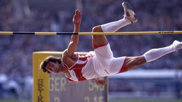 Christian SCHENK Deutschland Leichtathletik Zehnkampf Aktion Hochsprung Straddle Technik bei