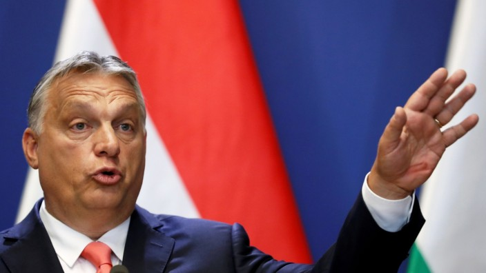 FILE PHOTO: Hungary's PM Orban and Slovakia's PM Matovic hold joint news conference in Budapest