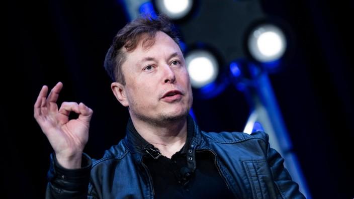 Twitter: Im Profil von Tesla-Chef Elon Musk tauchte der Werbetext gleich mehrfach auf.