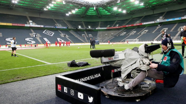 Fußball-Bundesliga TV-Kamera