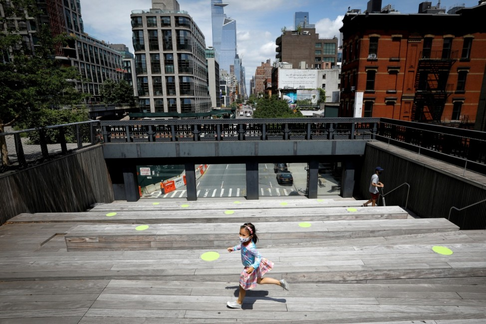 Elevated High Line Park re-opens following outbreak of the coronavirus disease (COVID-19) in New York City