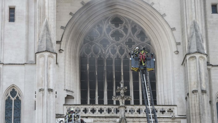 Brand in Kathedrale von Nantes ausgebrochen
