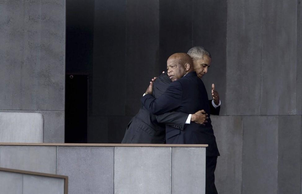 September 24, 2016 - Washington, DC, United States of America - U.S.President Barack Obama embraces civil rights legend