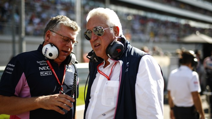 2019 Russian GP SOCHI AUTODROM, RUSSIAN FEDERATION - SEPTEMBER 29: Otmar Szafnauer, Team Principal and CEO, Racing Point; Lawrence Stroll