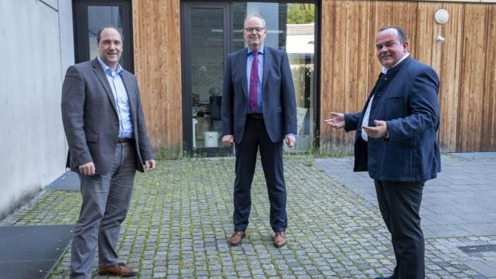 Pascal Fuckerieder, Horst Rieder und Clemens Baumgärtner in München Allach, 2020