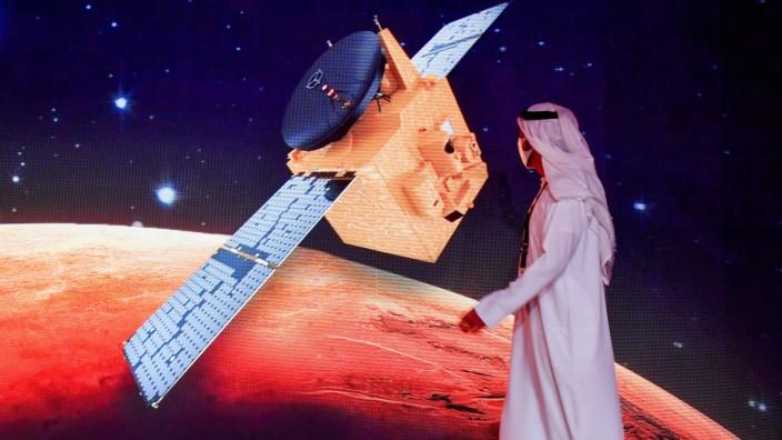 Raumfahrt: Ambitionierte Ziele: Bis zum Jahr 2117 wollen die Emirate eine bewohnte Mars-Kolonie aufbauen.