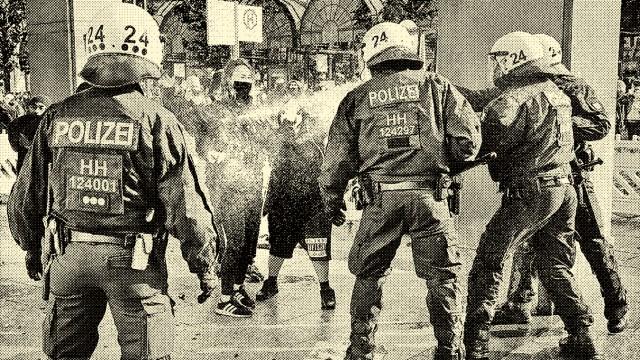 Polizeieinsatz bei Demonstration