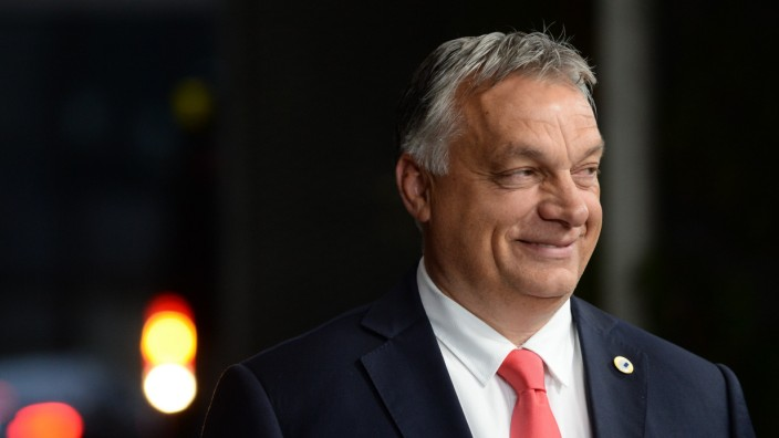 Ungarns Regierungschef Viktor Orbán auf dem EU-Sondergipfel 2020