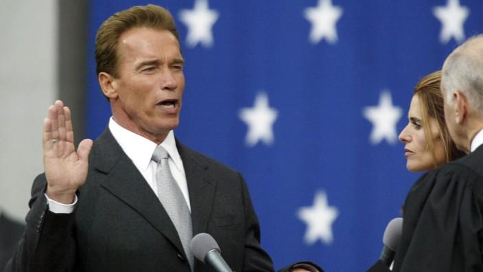 Arnold Schwarzenegger, Maria Shriver, Ronald George