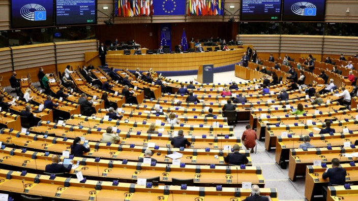 Extraordinary plenary session of the EU Parliament in Brussels