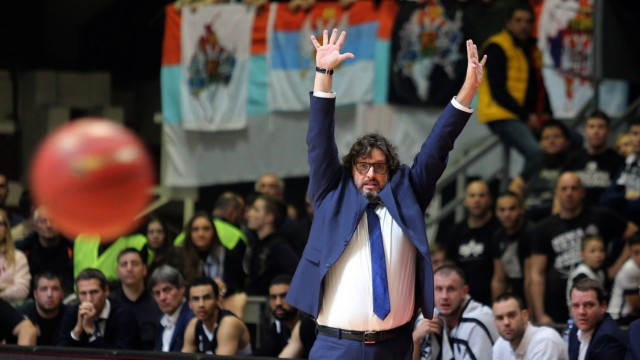 29.01.2020 Belgrade(Serbia) Andrea Trinchieri Partizan coach men s basketball :Str/Aleksanar Djorovic PUBLICATIONxNOTxI