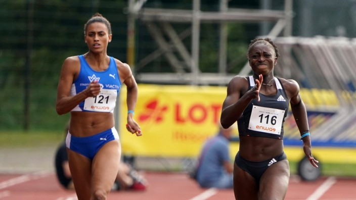 Leichtathletik, Coronavirus covid-19, Corona-Zeit, fast arms-fast legs, wetzlar, 18.07.2020 ENWAG-Stadion Wetzlar, Synd