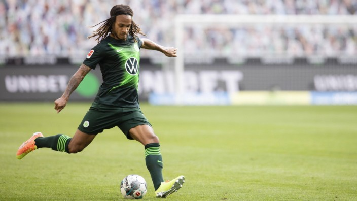 Borussia Moenchengladbach - VfL Wolfsburg, 16.06.2020 Kevin Mbabu (Wolfsburg) 16.06.2020, Fussball, 1. Bundesliga, Saiso; f