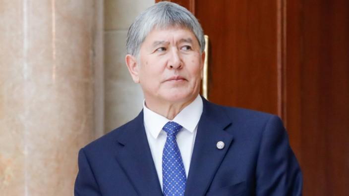 BISHKEK KYRGYZSTAN APRIL 14 2017 Kyrgyzstan s President Almazbek Atambayev ahead of a Supreme E