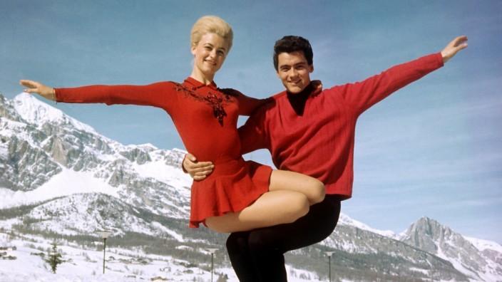 Eiskunstlaufpaar Marika Kilius und Hans-Jürgen Bäumler