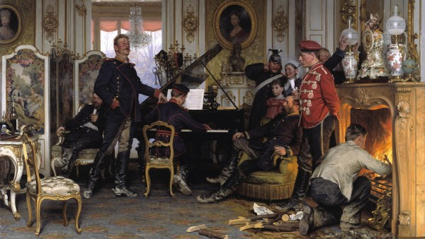 Anton von Werner: Im Etappenquartier vor Paris